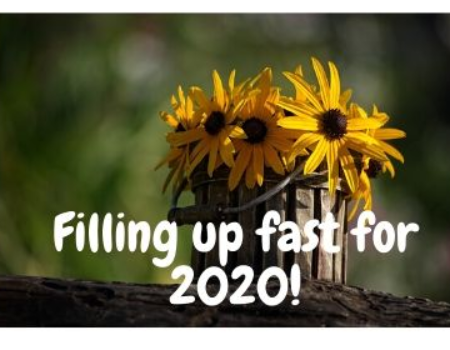 Filling up fast for 2020!