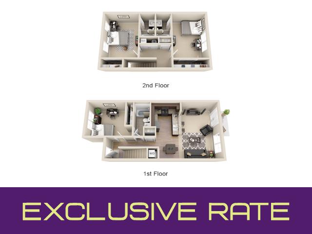 3 bedroom apartment floor plan