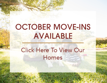 October Move-Ins Available