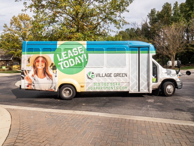Image of Hourly Shuttle to NC State for Village Green Student Housing