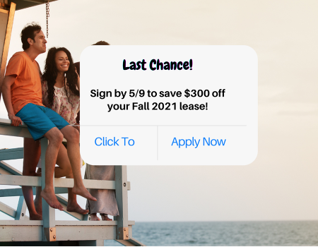 Save $300 on Your Fall 2021 Lease!
