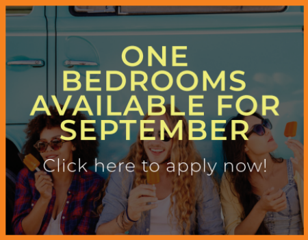 One Bedrooms Available For September!
