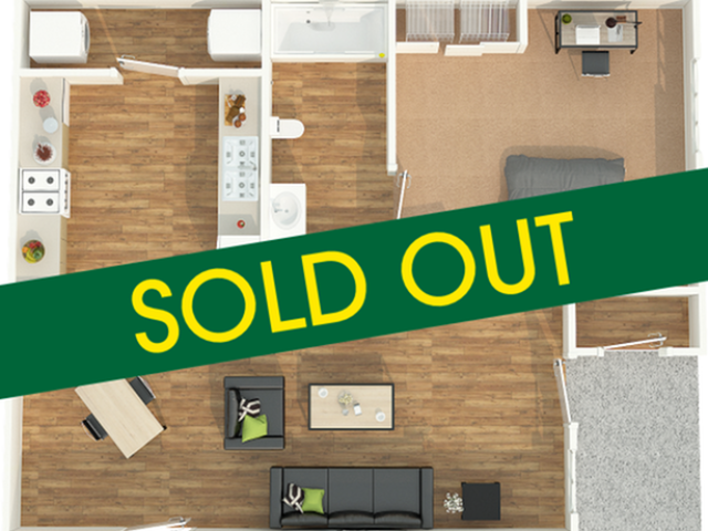 1 bed - sold out