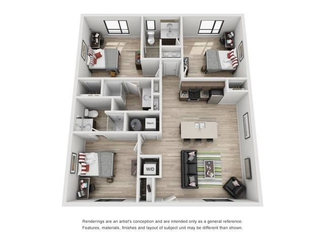 3 bedroom apartment in raleigh