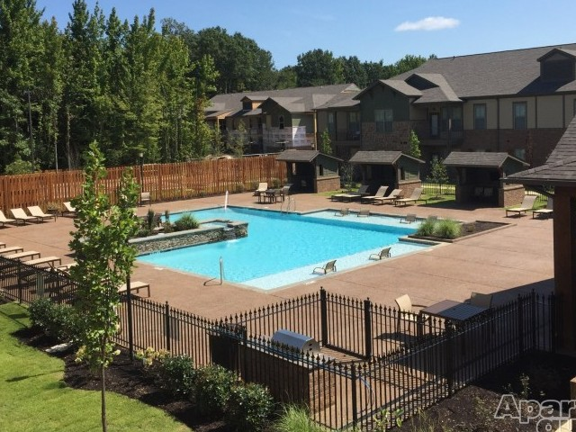 Image of Salt Water pool with pool deck for Hall Creek