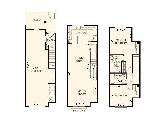 2 Bed / 2 Bath Apartment in San Jose CA | La Terraza
