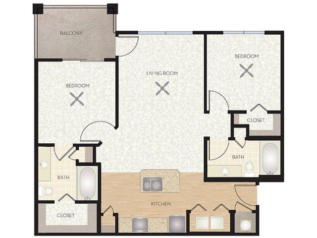 2 Bed / 2 Bath Apartment in Austin TX | The Monterra