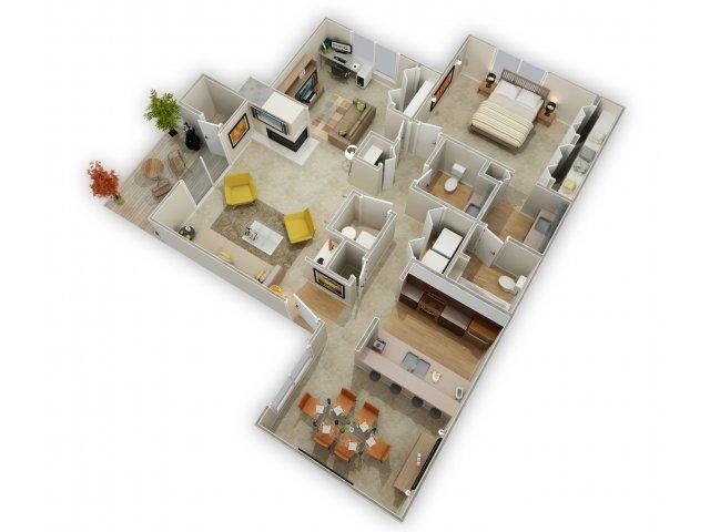 For The One Bedroom Plus Den Floor Plan