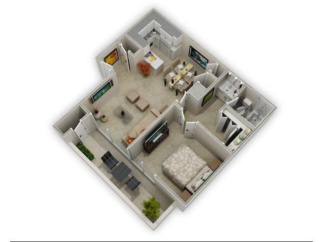 1 - 2 Bed Apartments | La Terraza