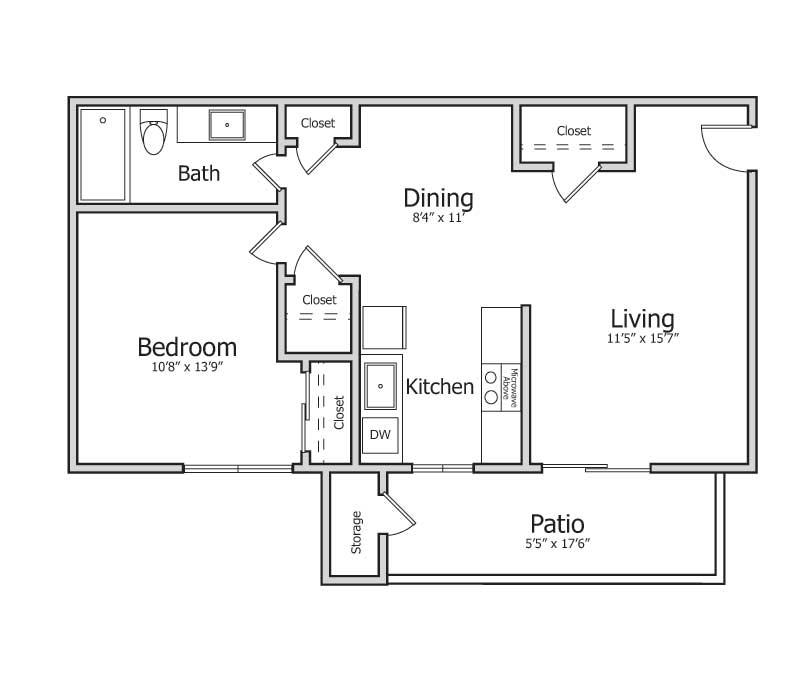 Beds / Baths1bd / 1ba