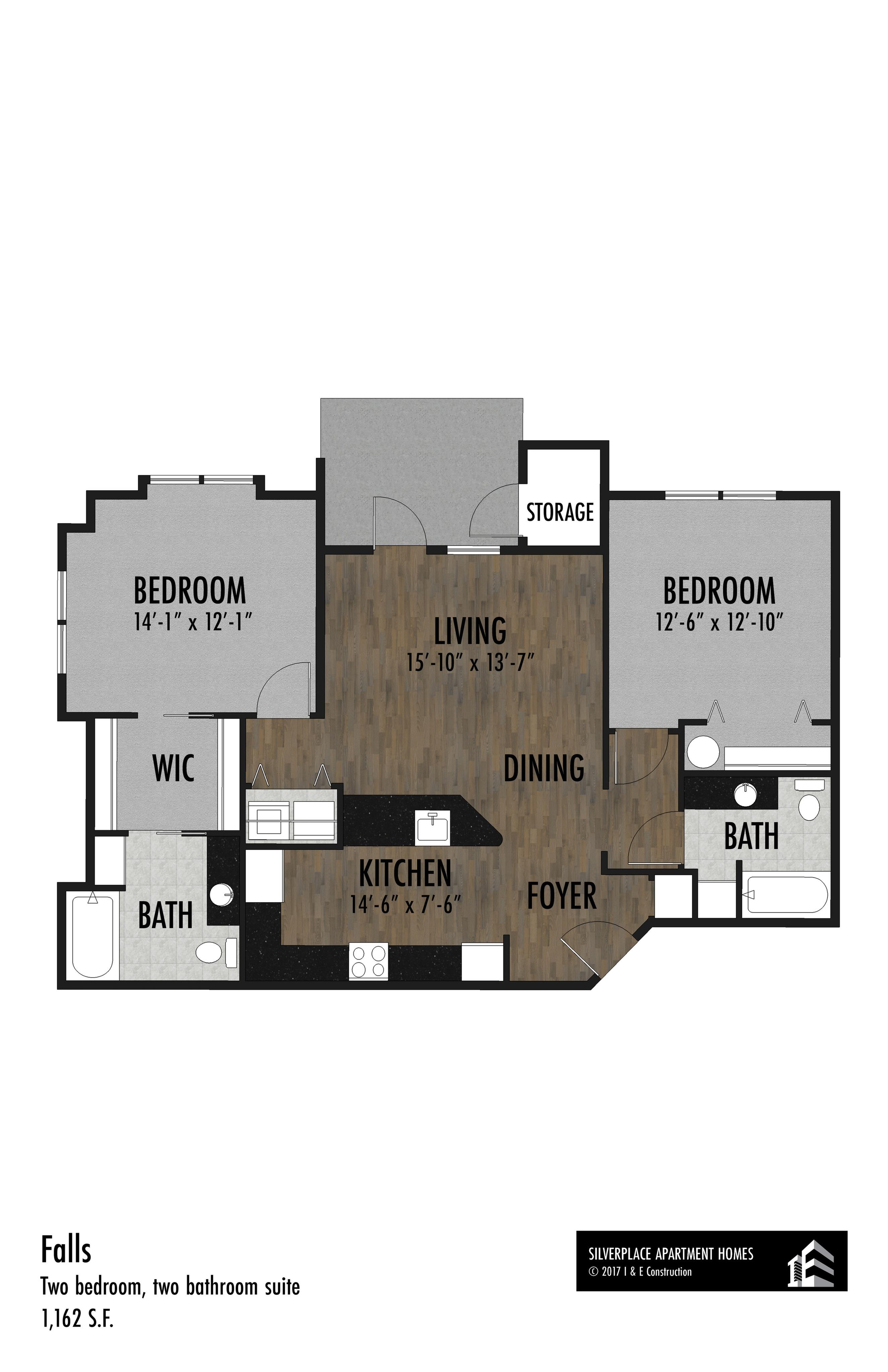 Falls Suite - 2 Bed 2 Bath