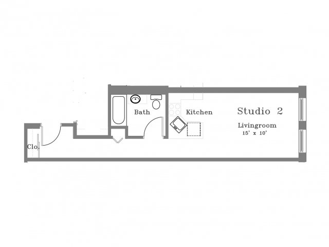 407 College Ave Studio Type A