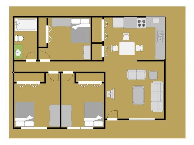 Ravenwood 3 Bedroom Apartment