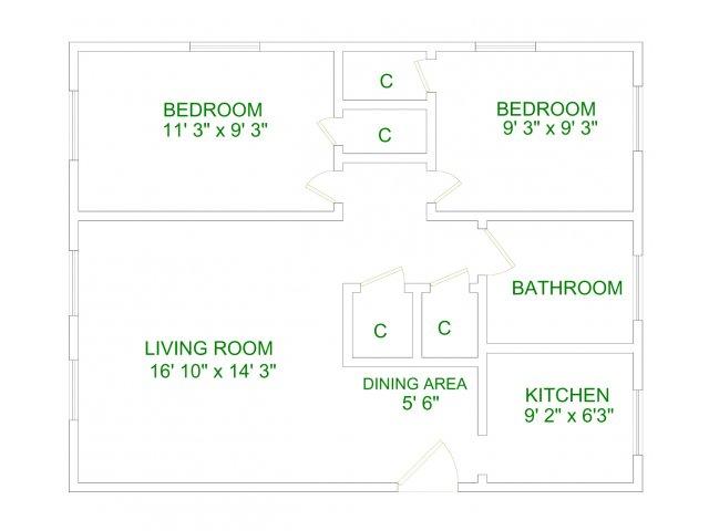 Lakeland 2 Bedroom Apartment