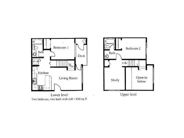 University West 2 bedroom 2 bathroom apartments for rent floor plan Tempe, AZ