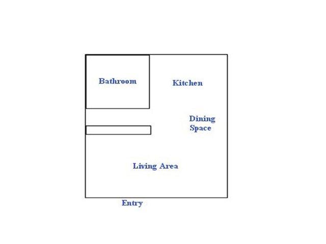Continental Apartments studio apartments for rent floor plan Phoenix, AZ