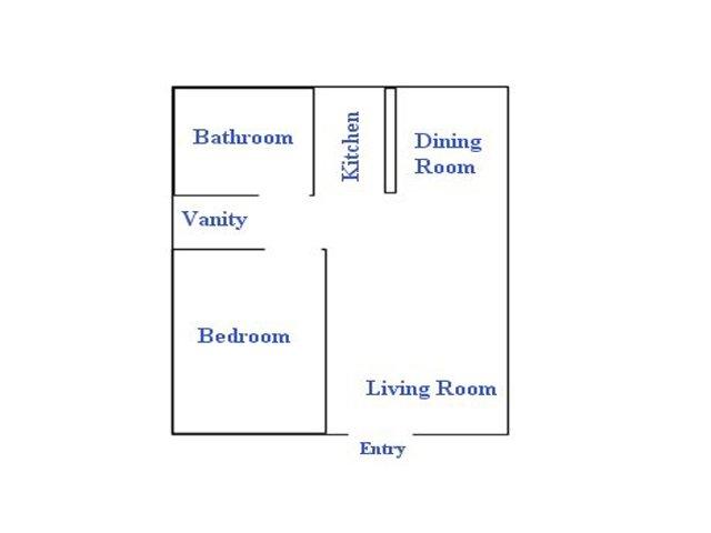 Continental Apartments 1 bedroom 1 bathroom apartments for rent floor plan Phoenix, AZ