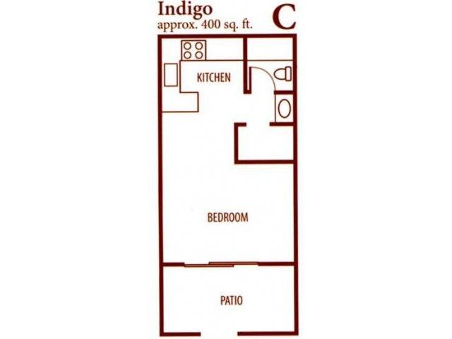 SunVilla studio apartments for rent floor plan Mesa, AZ