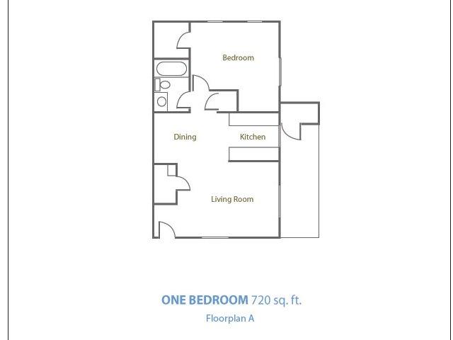 Marble Creek 1 bedroom 1 bathroom apartments for rent floor plan Phoenix, AZ