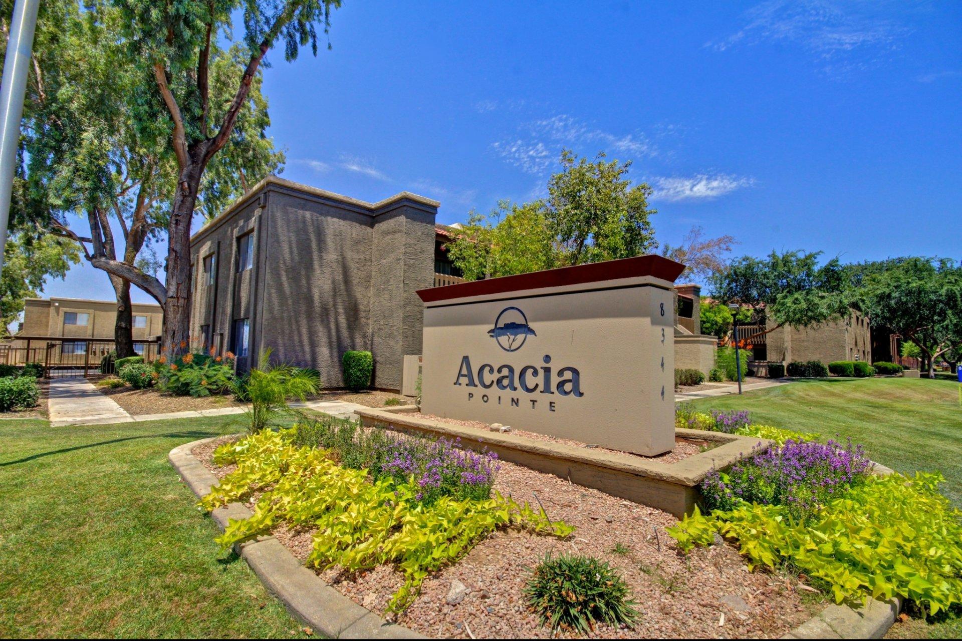 Acacia Pointe Apartments Phoenix, AZ signage