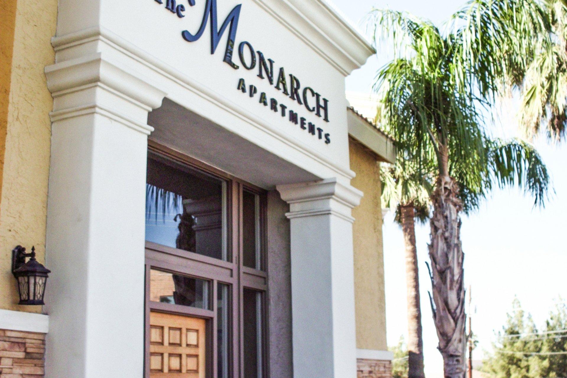 The Monarch Apartments Phoenix, AZ signage