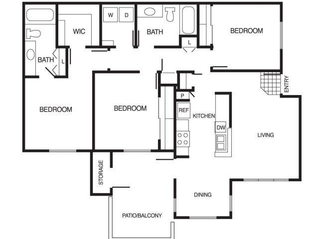 Country Brook Apartments 1 2 3 Bedroom Floor Plans Chandler Az