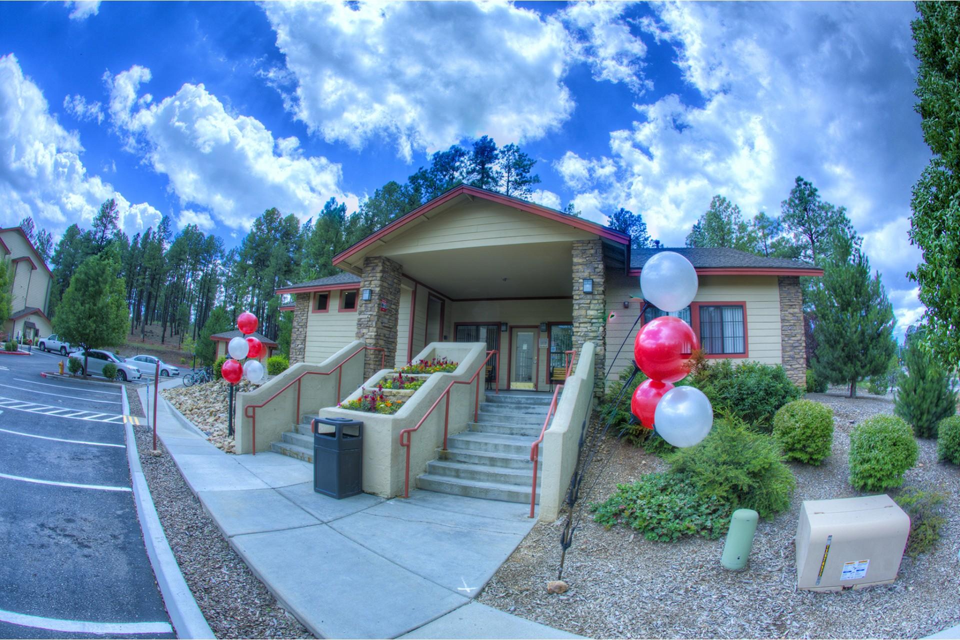 Clear Creek Village Apartments Flagstaff, AZ entrance