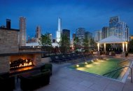 Outdoor pool at Flair Tower Apartments in Chicago IL