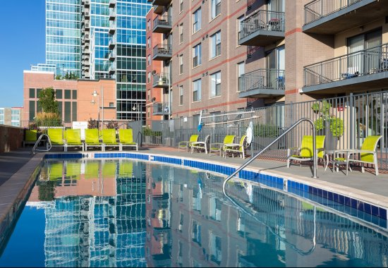 Swimming pool at The Manhattan by Windsor Apartments in Denver CO
