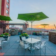 Outdoor patio at The Manhattan by Windsor Apartments in Denver CO