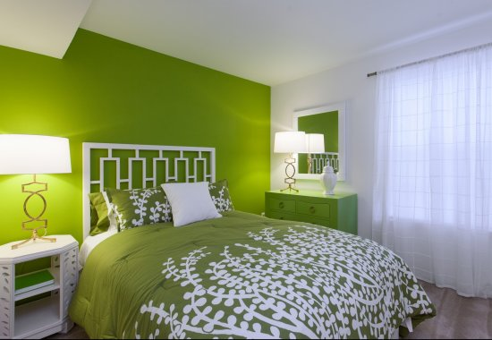 Model bedroom at Windsor at Pine Ridge Apartments in Elkridge MD