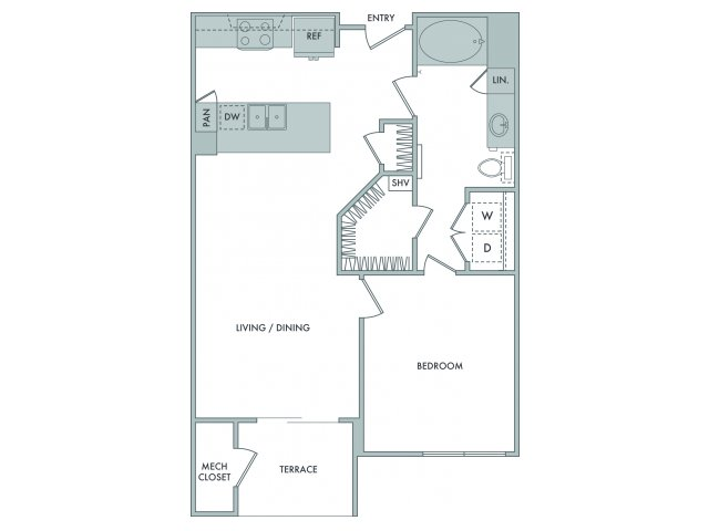 1 Bedroom Floor Plan | Hanover at The Pinehills