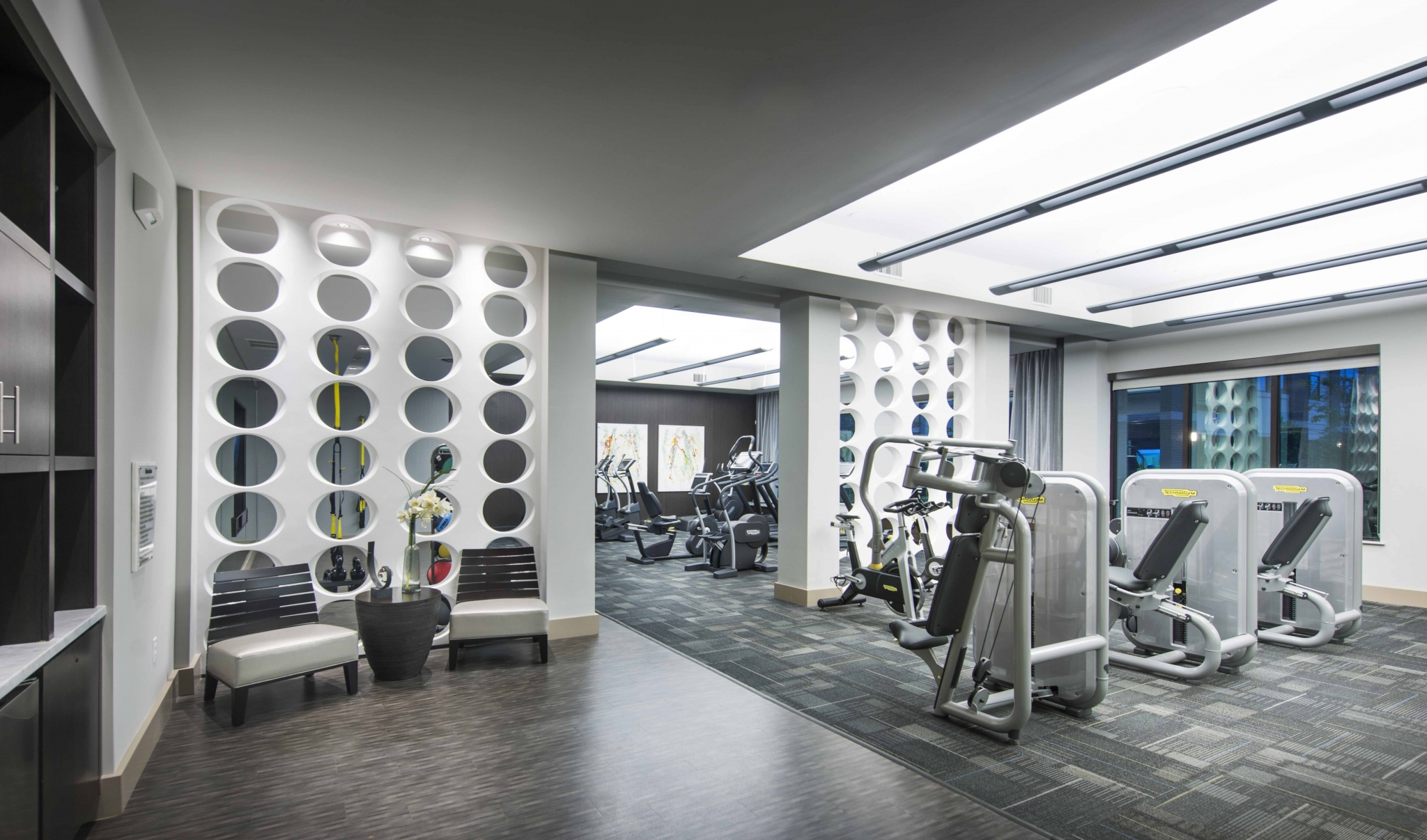 Image of 24-Hour Technogym fitness club for Viridian Design District