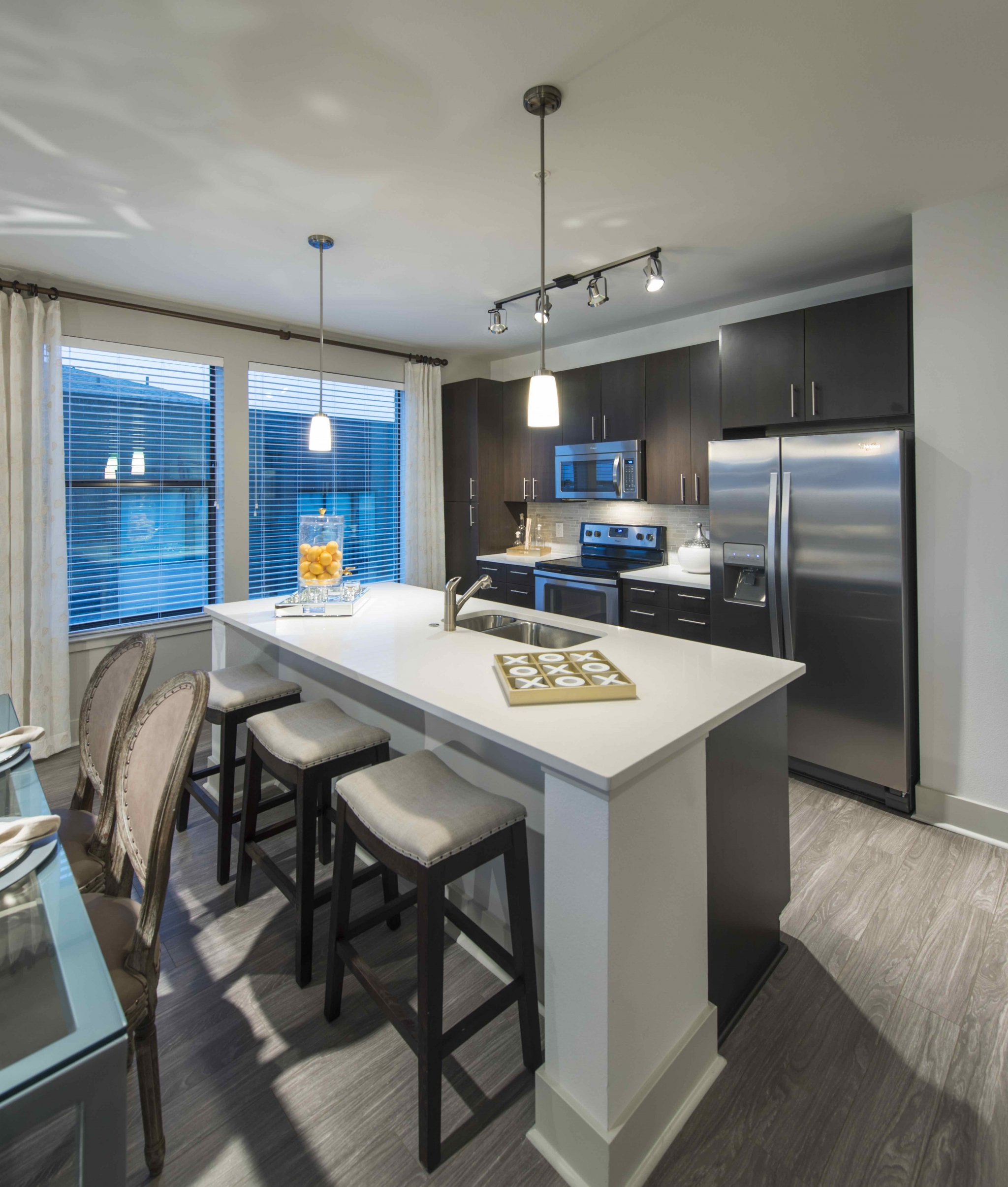 Image of Gourmet kitchens with stainless steel appliances for Viridian Design District