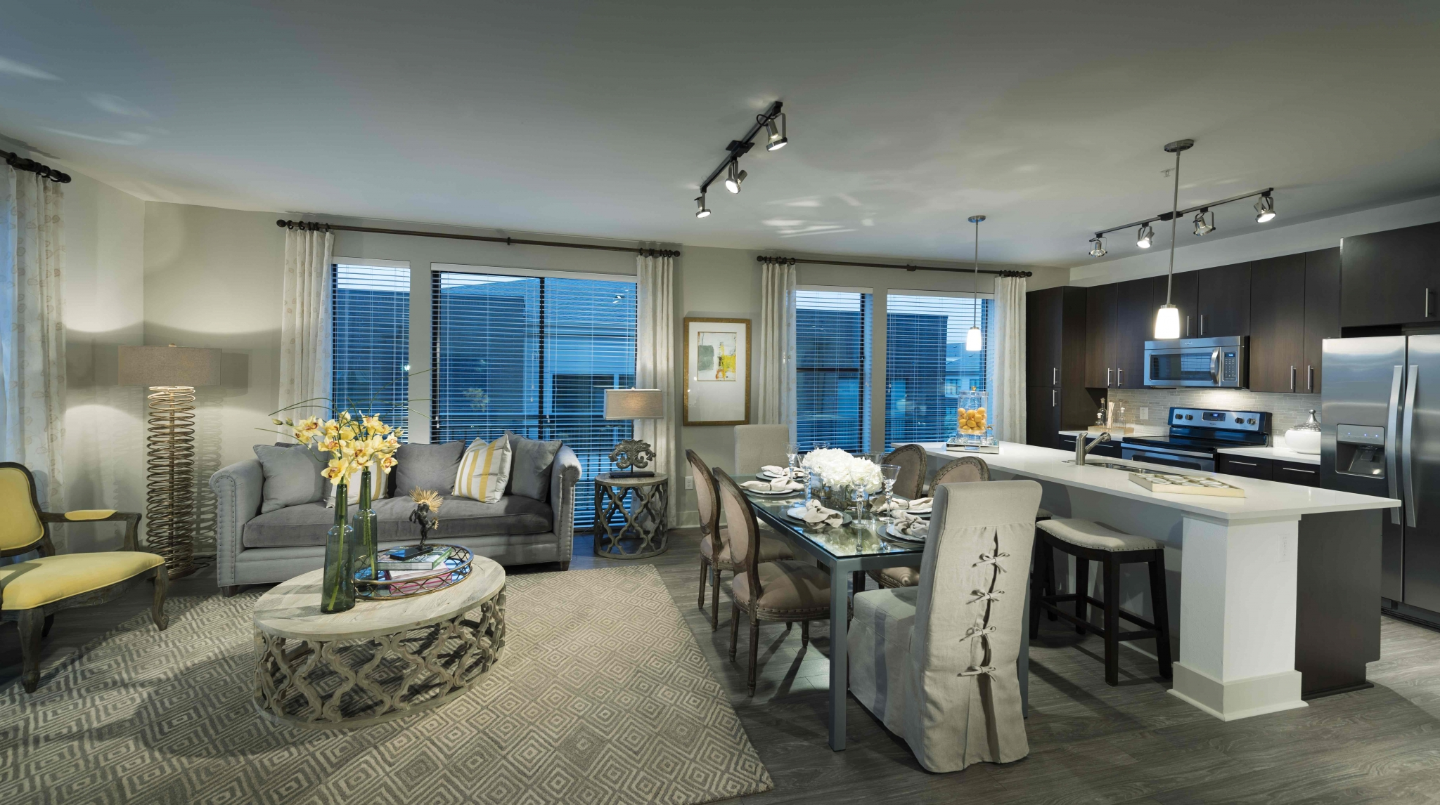 Image of Open living spaces with high ceilings for Viridian Design District