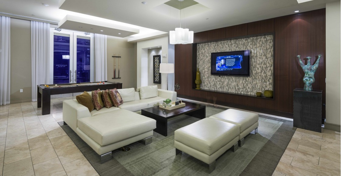 Image of The Resident Club with HDTV lounge and billiards for Hanover Rice Village