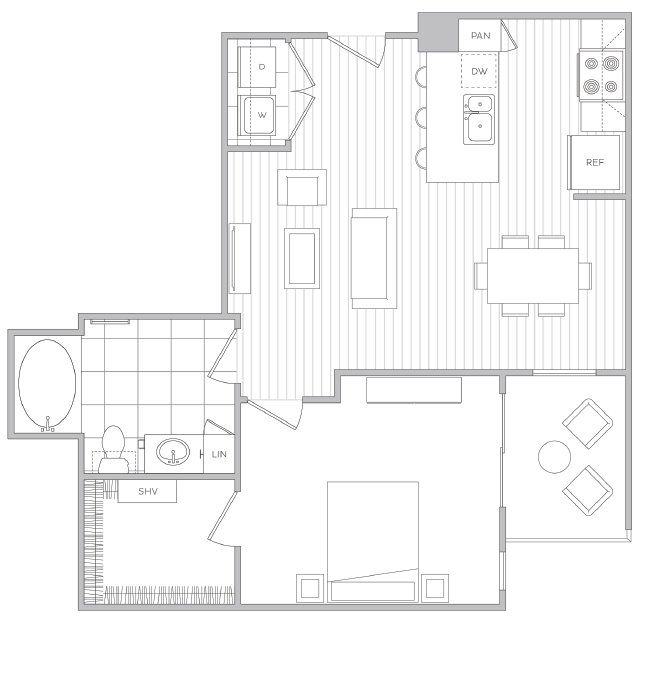 Floor Plan 4 | Luxury Apartments In Baltimore | Hanover Cross Street