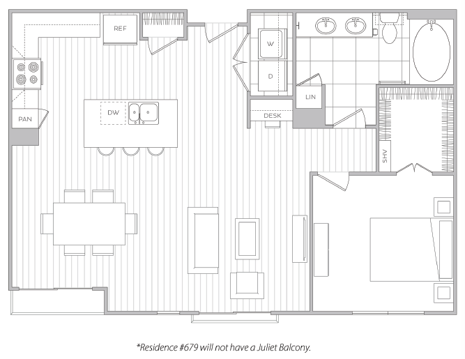 Floor Plan 11 | Luxury Apartment Baltimore | Hanover Cross Street