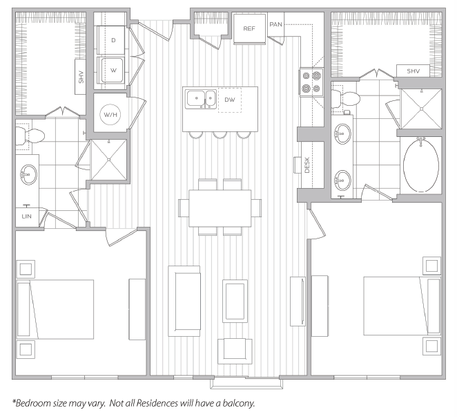 Floor Plan 18 | Luxury Apartments Baltimore | Hanover Cross Street