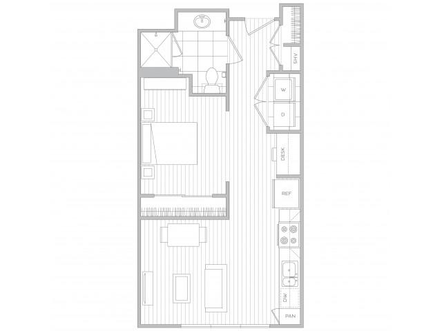 Floor Plan 1 | Luxury Apartments In Sandy Springs Ga | Hanover Perimeter