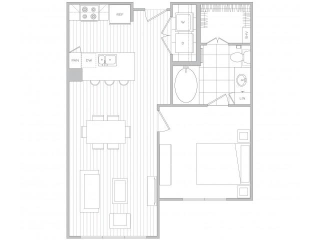 Floor Plan 2 | Sandy Springs Luxury Apartments | Hanover Perimeter