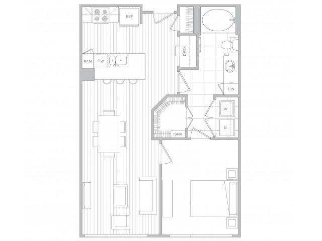 Floor Plan 3 | Luxury Apartments Sandy Springs Ga | Hanover Perimeter