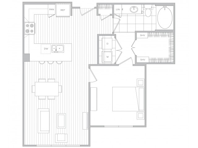 Floor Plan 6 | Apts In Sandy Springs Ga | Hanover Perimeter
