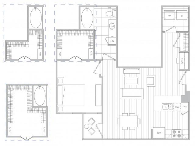 Floor Plan 7 | Apartments For Rent In Sandy Springs | Hanover Perimeter