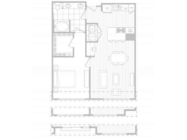 Floor Plan 9 | Sandy Springs Luxury Apartments | Hanover Perimeter