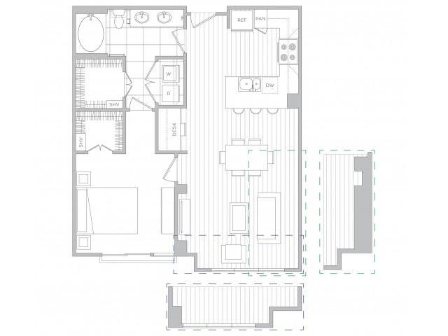 Floor Plan 10 | Luxury Apartments Sandy Springs Ga | Hanover Perimeter