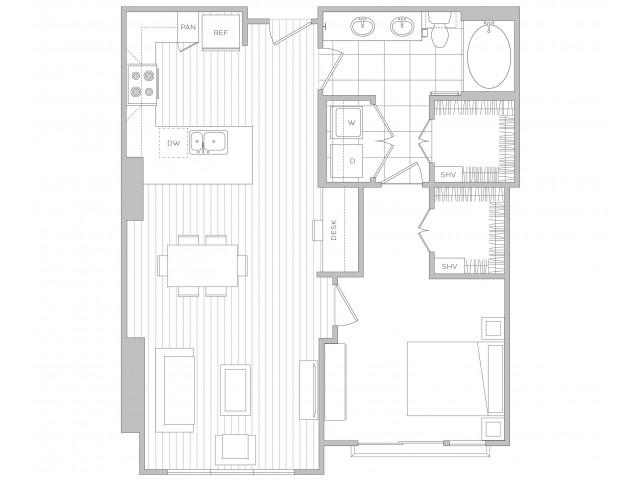 Floor Plan 11 | Luxury Apartments In Sandy Springs Ga | Hanover Perimeter