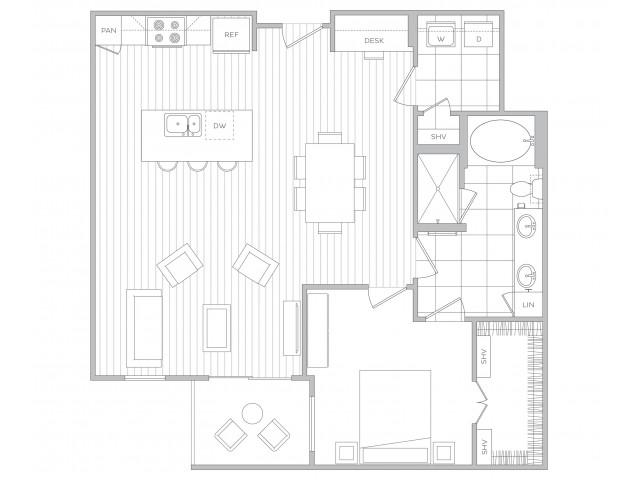 Floor Plan 12 | Sandy Springs Luxury Apartments | Hanover Perimeter