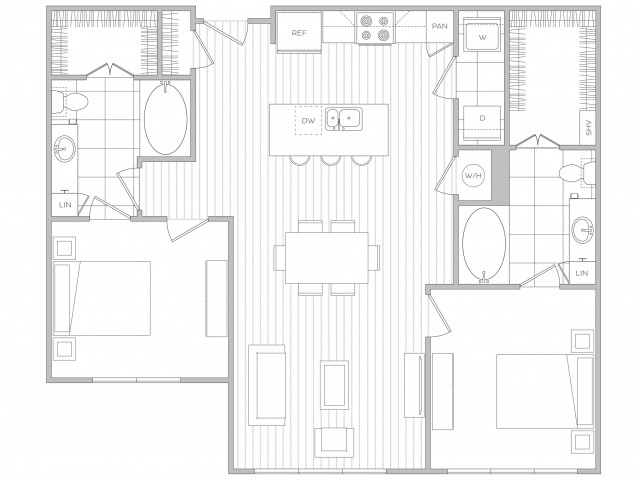 Floor Plan 15 | Apartment In Sandy Springs Ga | Hanover Perimeter