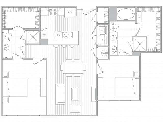Floor Plan 16 | Apts In Sandy Springs Ga | Hanover Perimeter